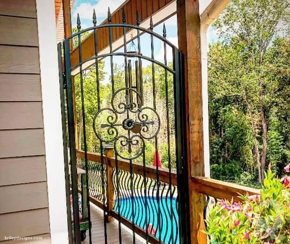 Custom Iron Entry Gate by K Riley Designs : krileydesigns.com
