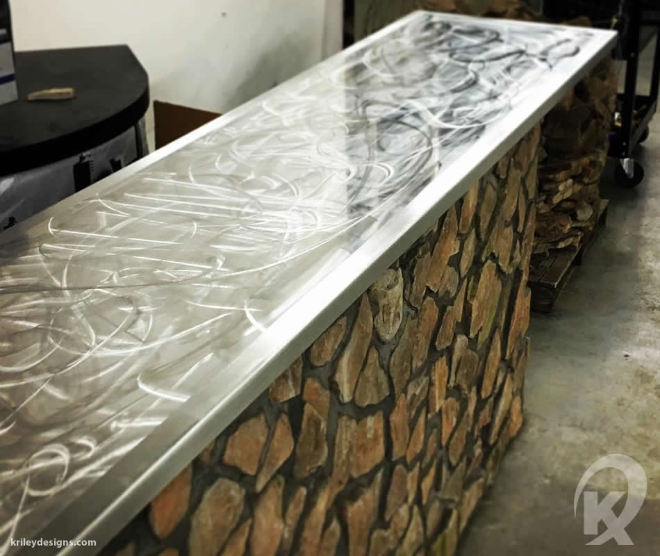 Custom metal bench seat by K Riley Designs : krileydesigns.com