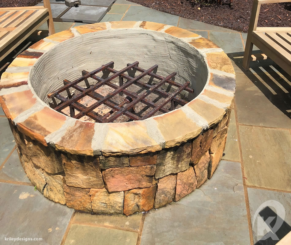 Custom firepit by K Riley Designs : krileydesigns.com