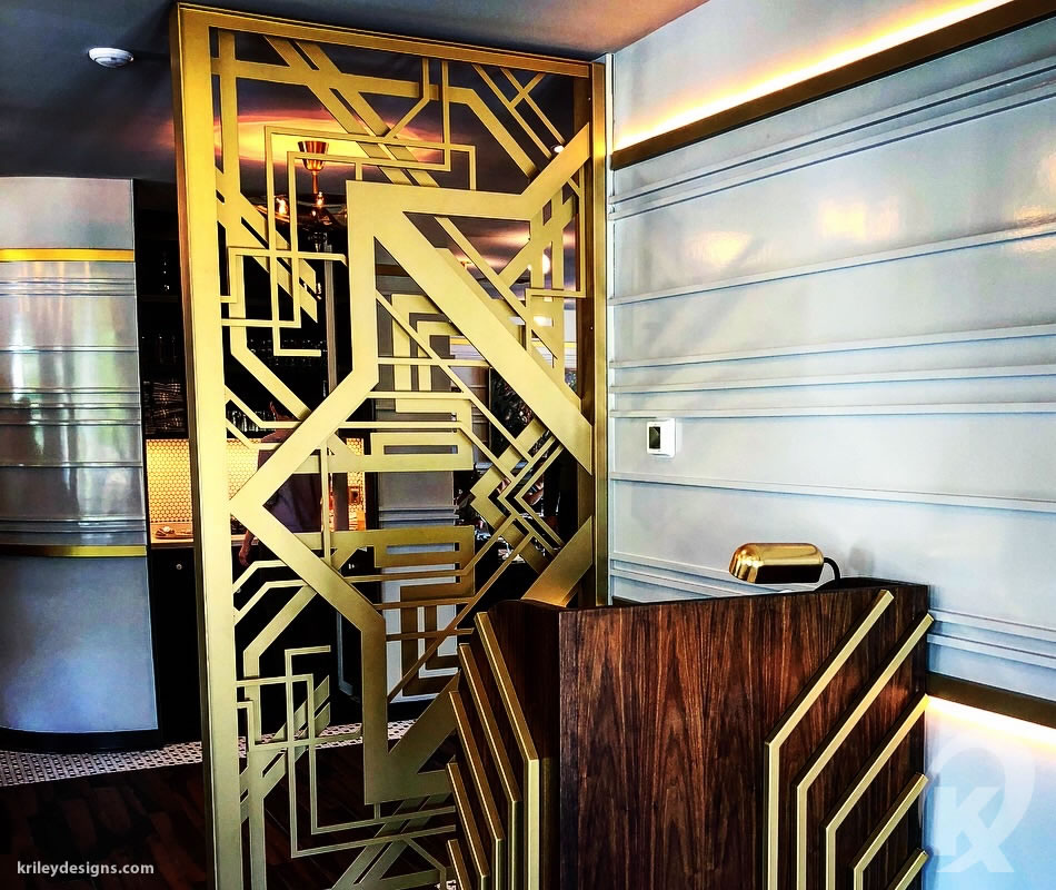 Custom metal work for The Kennedy Restaurant by K Riley Designs : krileydesigns.com