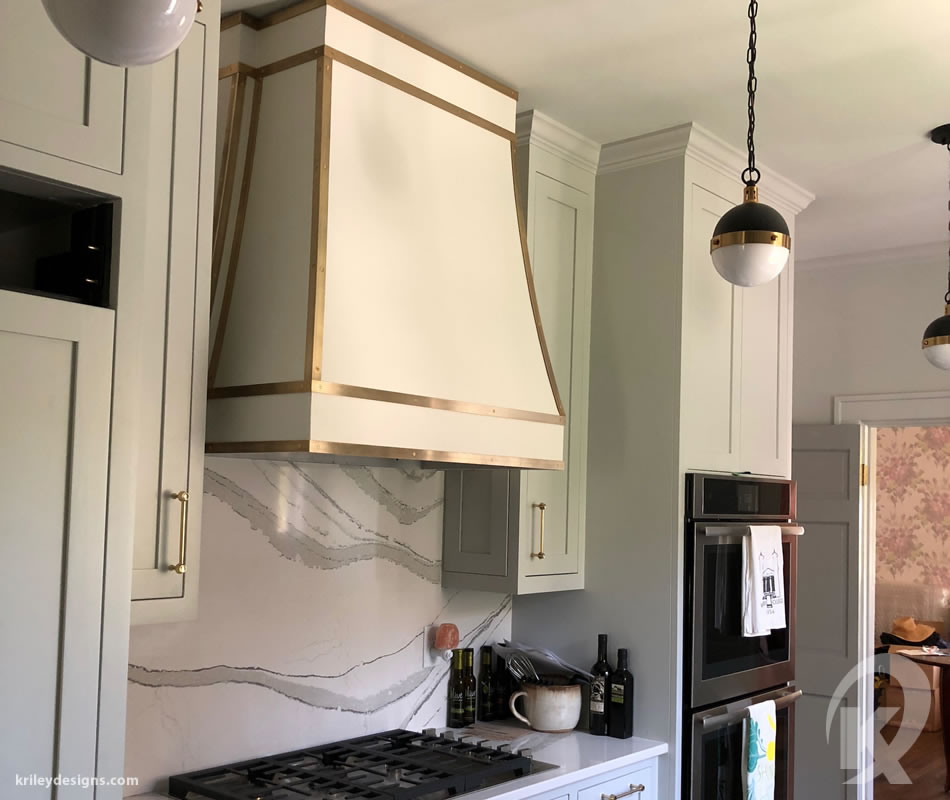 Custom metal oven range hood by K Riley Designs : krileydesigns.com
