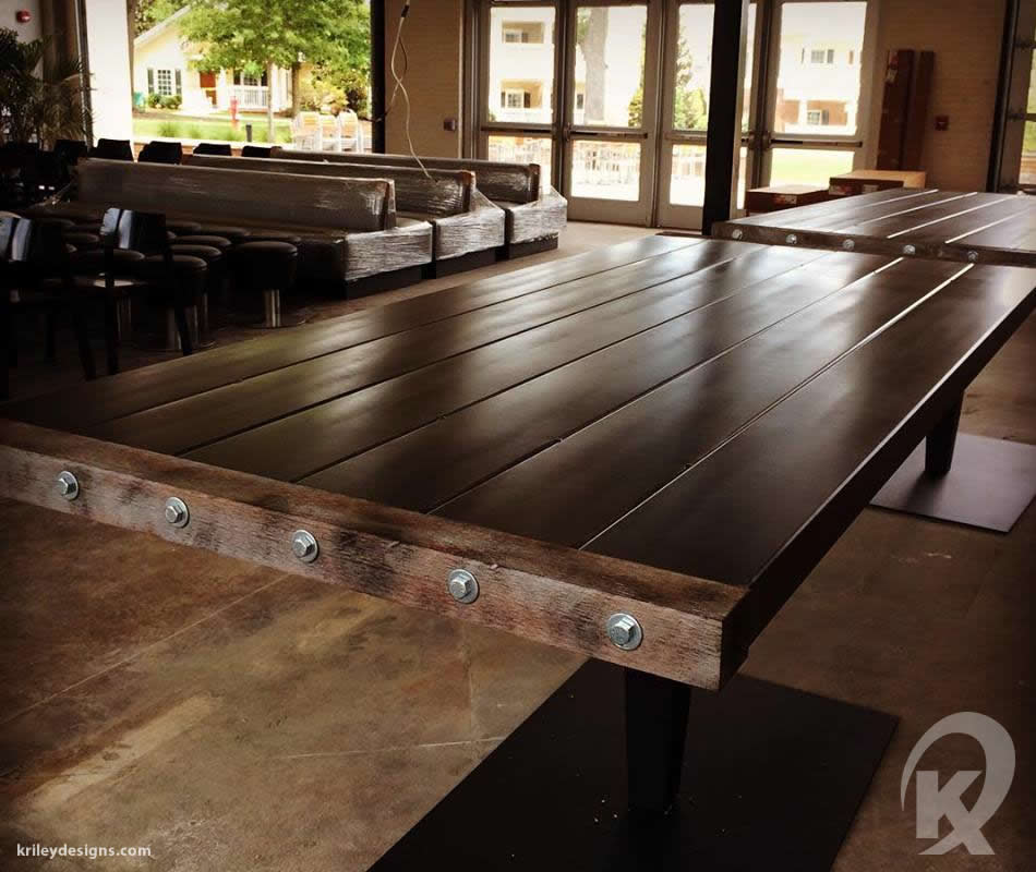 Custom restaurant table fabrication by K Riley Designs : krileydesigns.com